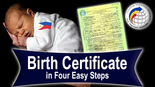 NSO Birth Certificate in Four Easy Steps – Video