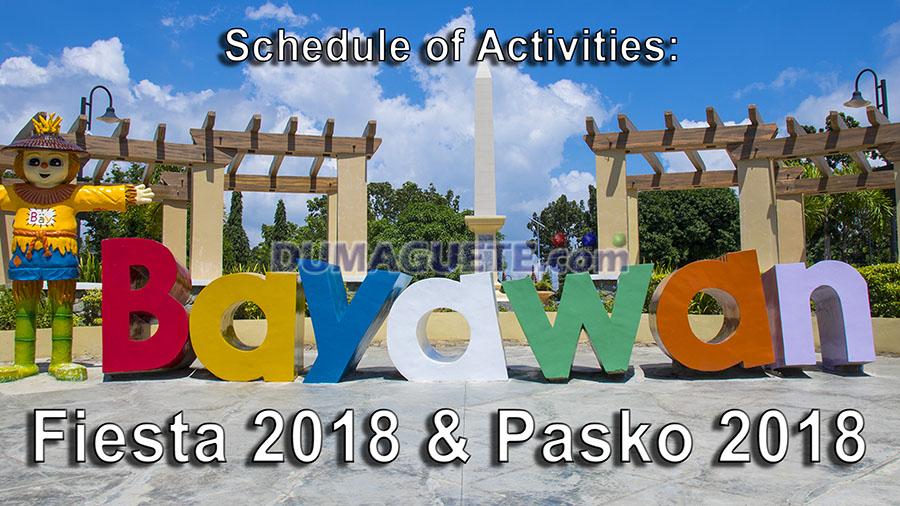 Bayawan Fiesta 2018 - Pasko sa Bayawan City 2018