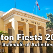 Siaton Fiesta 2018 - Schedule of Activities