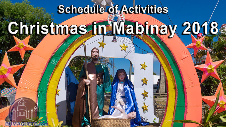 Christmas in Mabinay 2018 - Schedule of Activites