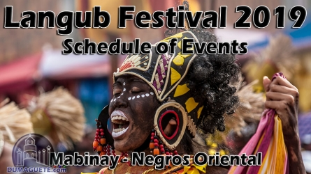 Mabinay Fiesta 2019 – Schedule of Events