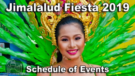 Jimalalud Fiesta 2019 – Schedule of Events