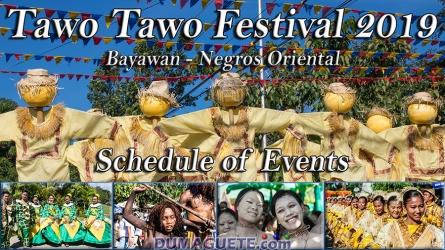 Bayawan City – Tawo Tawo Festival 2019 – Schedule of Events