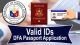 Valid IDs & Supporting Documents - DFA Passport