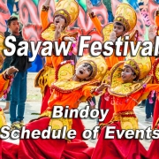 Bindoy Libod Sayaw Festival 2019 - Schedule of Events