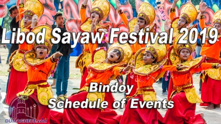 Bindoy Libod Sayaw Festival 2019 – Schedule of Events