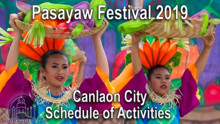 Canlaon City Pasayaw Festival 2019 – Schedule of Activities