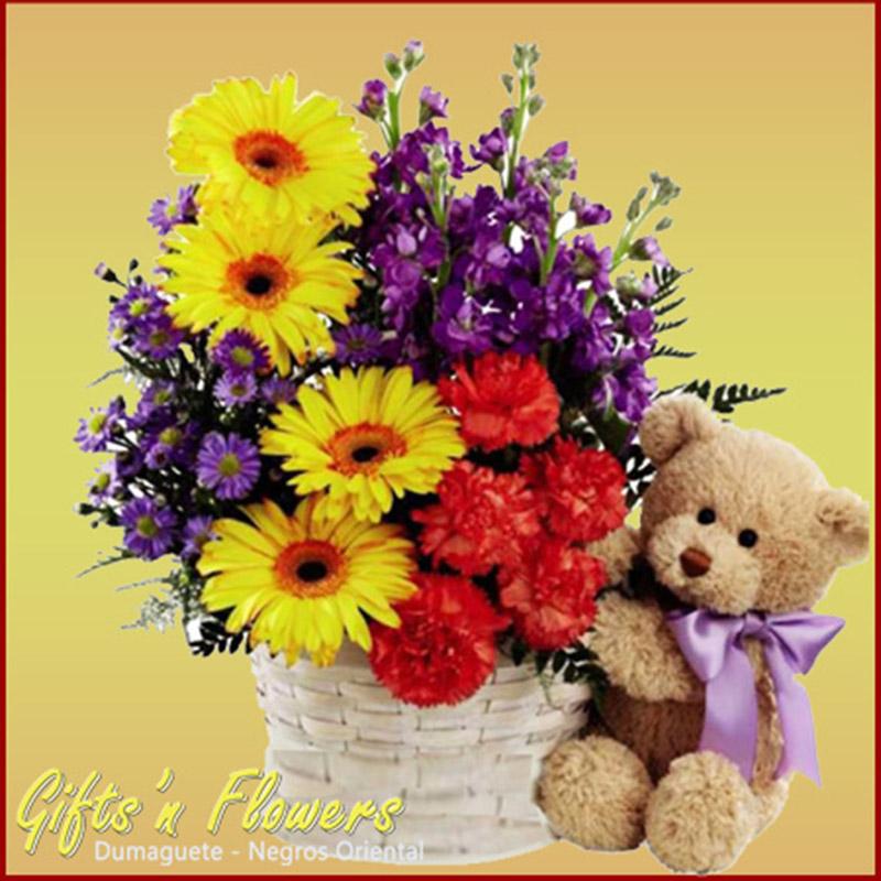 Gifts 'n Flowers - Dumaguete - Teddy Bears & Basket