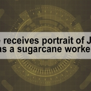 Pope receives portrait of Jesus as a sugarcane worker