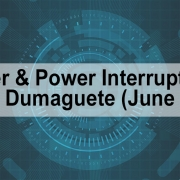 Water & Power Interruptions in Dumaguete (June 2)
