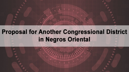 Proposal for Another Congressional District in Negros Oriental