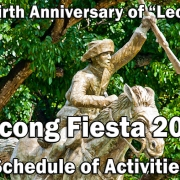 Bacong Fiesta 2019 - Schedule of Activities - 146th Birth Anniversary of Leon Kilat