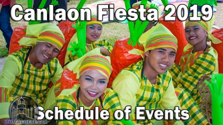 Canlaon Fiesta 2019 – Schedule of Events