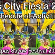 Bais City Fiesta 2019 - Tapas Sayaw Festival 2019 Schedule of Activities