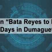 "Efren ""Bata Reyes to Play 3 Days in Dumaguete"