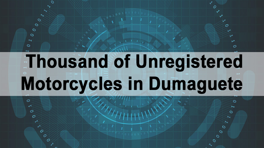 Thousand of Unregistered Motorcycles in Dumaguete