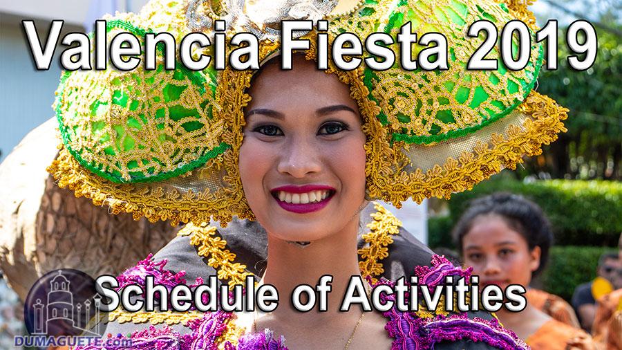 Valencia Fiesta 2019 – Schedule of Activities