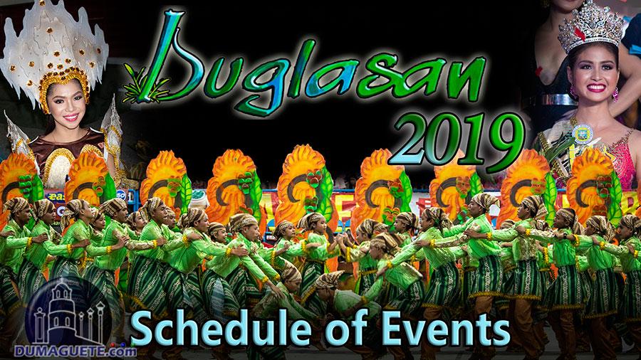 Buglasan Festival 2019 - Schedule of Events - Negros Oriental