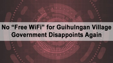 "No ""Free WiFi"" for Guihulngan Village – Government Disappoints Again"