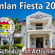 Amlan Fiesta 2019 - Schedule of Activities - Negros Oriental