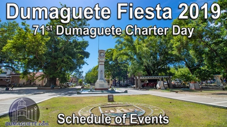 Dumaguete Fiesta 2019 – Schedule of Events