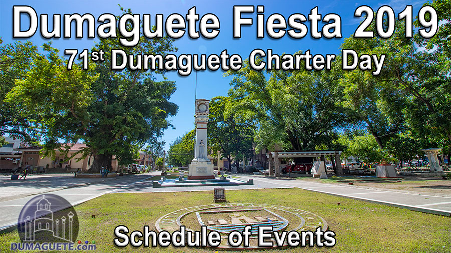 Dumaguete Fiesta 2019 - Schedule of Events
