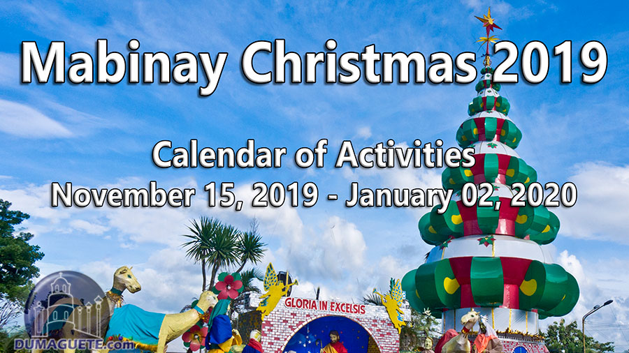 Mabinay Christmas 2019 - Calendar of Activities