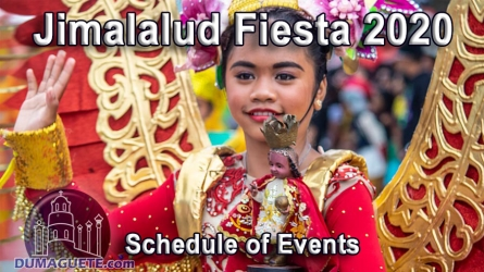 Jimalalud Fiesta 2020 – Schedule of Events