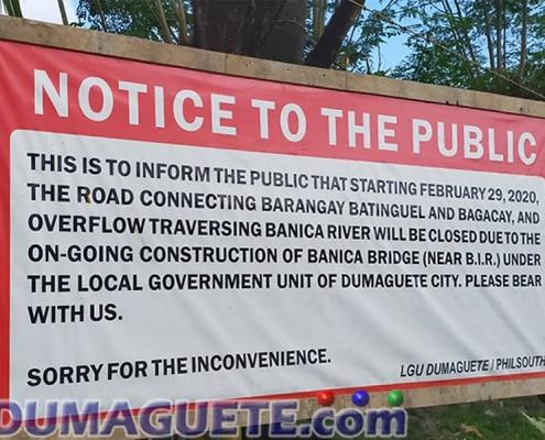 Banica Bridge Public Notice