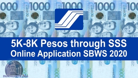 Government Gives 5K-8K Pesos through SSS – Online Application SBWS 2020