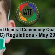 Modified General Community Quarantine (MGQC) Regulations as of May 29, 2020