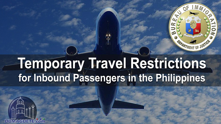 Temporary Travel Restrictions for Inbound Passengers in the Philippines