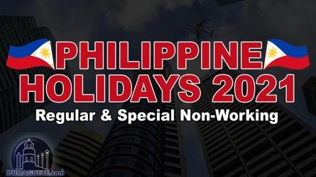 Philippine Holidays 2021