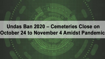 Cemeteries Closed on Oct. 24- Nov. 4 for Undas Ban 2020
