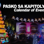 Pasko sa Kapitolyo 2020 - Calendar of Events