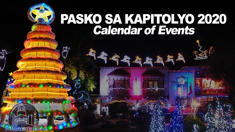 Pasko sa Kapitolyo 2020 - Calendar of Events