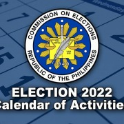 Philippine Election 2022 - Calendar of Activities