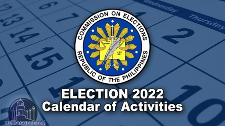 Philippine Election 2022 – Calendar of Activities