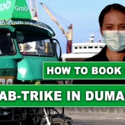 Grab Trike in Dumaguete City - How to book a Tricycle Online
