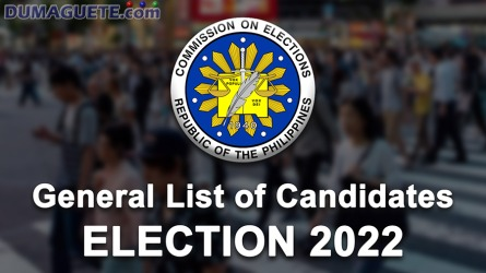 Dumaguete City & Negros Oriental Candidates for 2022 Election
