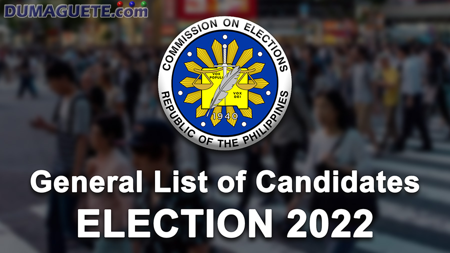 Dumaguete City & Negros Oriental Candidates for Election 2022